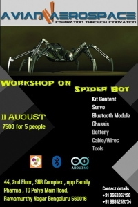 Spider Robot Workshop - Bangalore - 11 August 2018