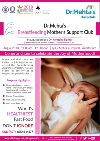 Dr. Mehta's Breast Feeding Mother's Support Club Inauguration