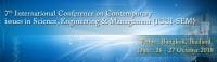 7th International Conference on Contemporary issues in Science, Engineering & Management (ICCI-SEM)