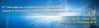 9th International Conference on Contemporary issues in Science, Engineering & Management (ICCI-SEM)