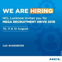 HCL Lucknow Mega Recruitment Drive