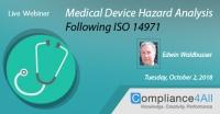 Medical Device Hazard Analysis (ISO 14971)