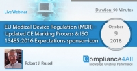 Updated CE Marking Process & ISO 13485:2016 Expectations