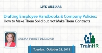 Web Conference on Drafting Employee Handbooks and Company Policies