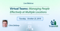 Web Conference on  Virtual Teams: Managing People Effectively at Multiple Locations