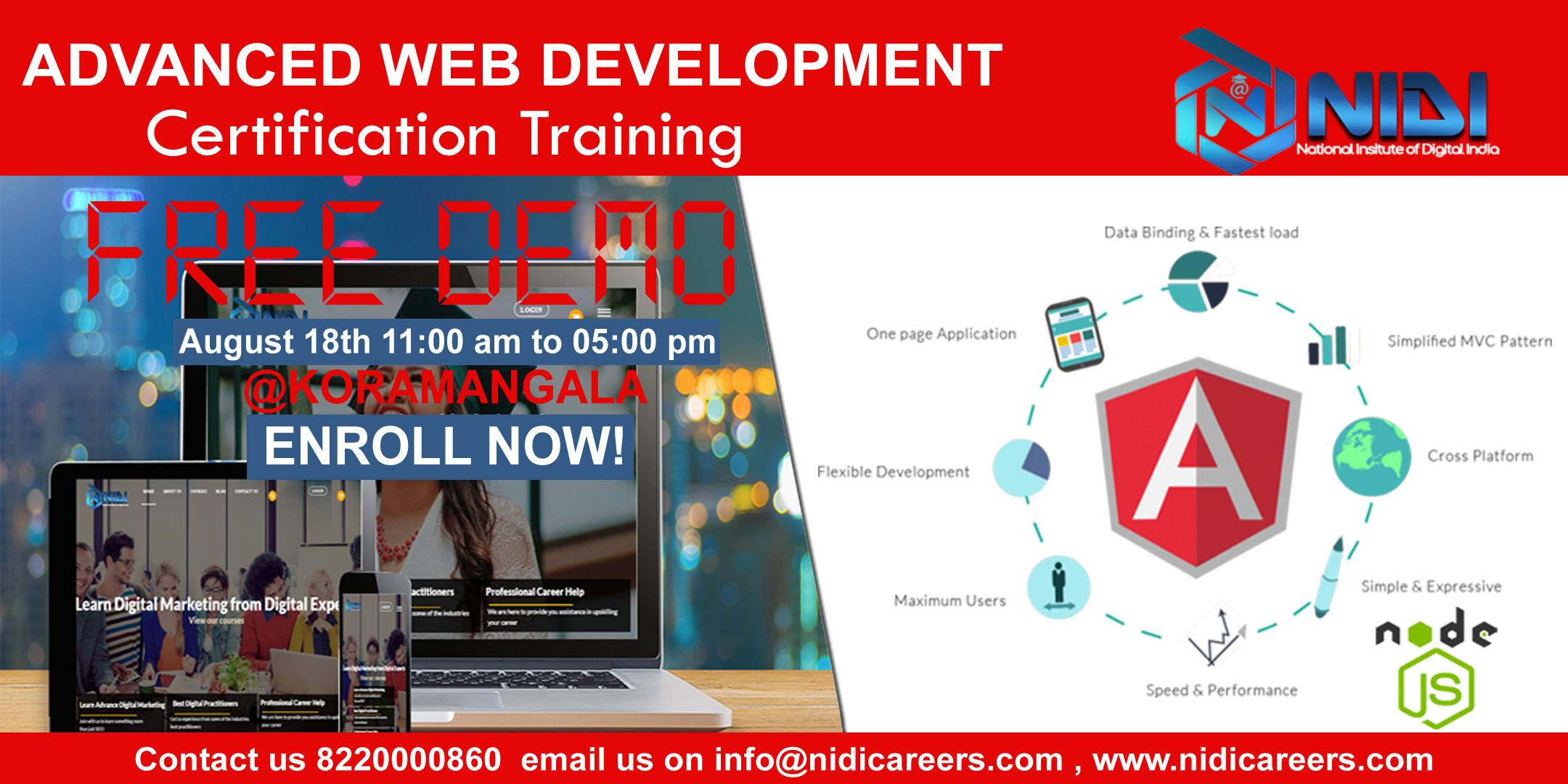 Advanced Web Development Demo Angularjs Nodejs Training Class