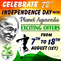 Indian Independence Day Offer By Planet Ayurveda - 7th to 18th August 2018