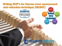 Webinar on Writing SOP's for Human error assessment and reduction technique (HEART) – Training Doyens