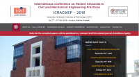 International Conference on Recent Advances in Civil and Mechanical Engineering Practices (ICRACMEP-2018)