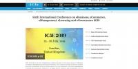 Sixth International Conference on eBusiness, eCommerce, eManagement, eLearning and eGovernance 2019
