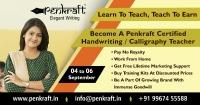 Become A certified Penkraft Teacher 4 sep To 6 sep