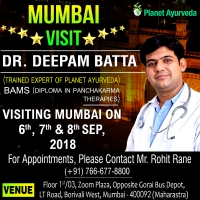Free Ayurvedic Special Consultation in Mumbai - 6th to 8th Sept 2018