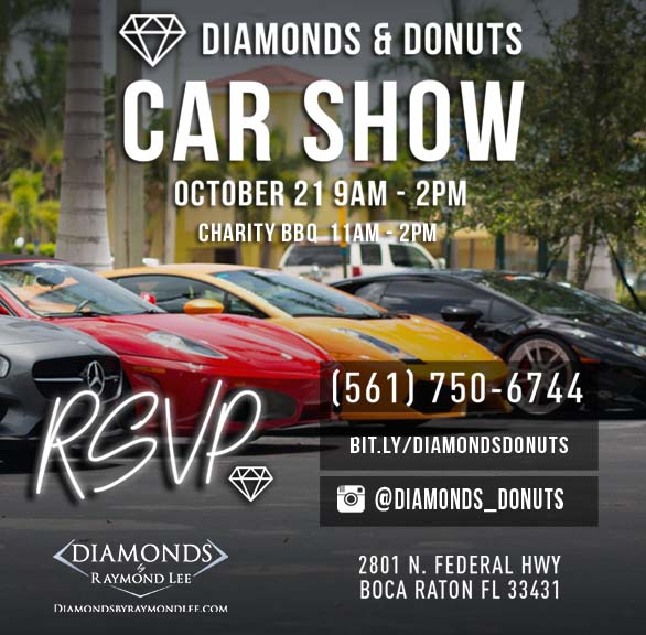 Diamonds And Donuts Car Show Exhibition - Palm beach car show