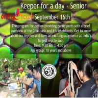 Senior Keeper For A Day in Chennai  | Entryeticket