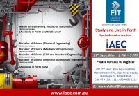 Meet Engineering institute of Technology, Australia @ IAEC Ahmedabad !