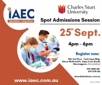 Meet Charles Sturt University : Australian Spot Admission Sessions @ IAEC Education Ahmedabad !