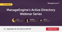 ManageEngine Free Active Directory webinar series