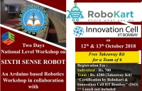 Two Days National Level Workshop on SIXTH SENSE ROBOT
