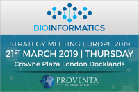 Bioinformatics Strategy Meeting 2019 in London | Proventa