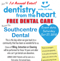 Free Dental Care Event in Calgary at Southcentre Dental!