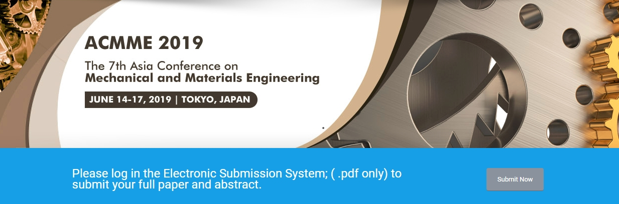 2019 7th Asia Conference on Mechanical and Materials Engineering (ACMME 2019), Tokyo, Kanto, Japan