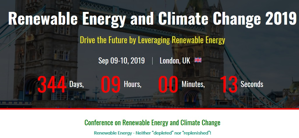 Conference on Renewable Energy and Climate Change 2019 - Conference