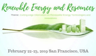 3rd International Conference on Renewable Energy and Resources, San Francisco, California, United States