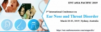 3rd International Conference on Ear, Nose and Throat Disorders