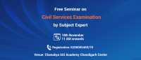 Exclusive Workshop in Chandigarh on Civil Services Examination preparation