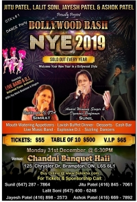 Bollywood Bash New Years Eve 2019