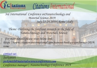 3rd International Conference on Nanotechnology and Materials Science