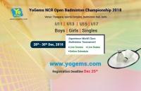 YoGems NCR Open Badminton Championship 2018