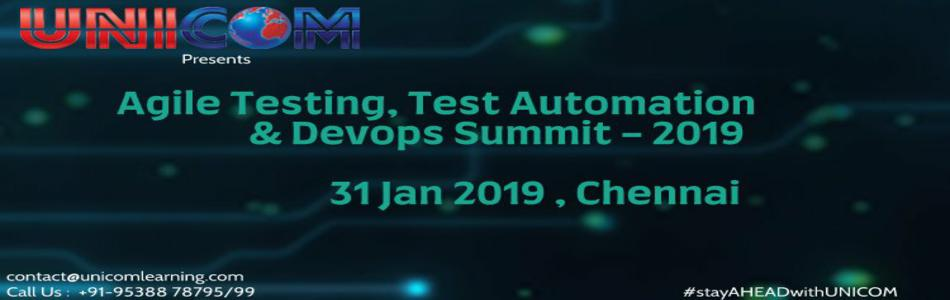 Agile Testing Test Automation DevOps Summit- Chennai 2019