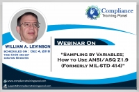 Sampling by Variables; How to Use ANSI/ASQ Z1.9 (formerly MIL-STD 414)