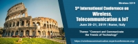 5th International Conference on Wireless, Telecommunication & IoT