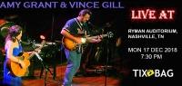 Buy Amy Grant & Vince Gill Tickets on Tixbag, Mon 17 12 2018, Nashville,TN