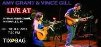 Buy Amy Grant & Vince Gill Tickets on Tixbag, Tue 18 12 2018, Nashville,TN
