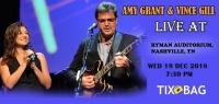 Buy Amy Grant & Vince Gill Tickets on Tixbag, Wed 19 12 2018, Nashville,TN