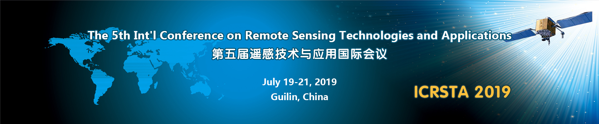 The 5th Int'l Conference on Remote Sensing Technologies and Applications (ICRSTA 2019), Guilin, Guangxi, China