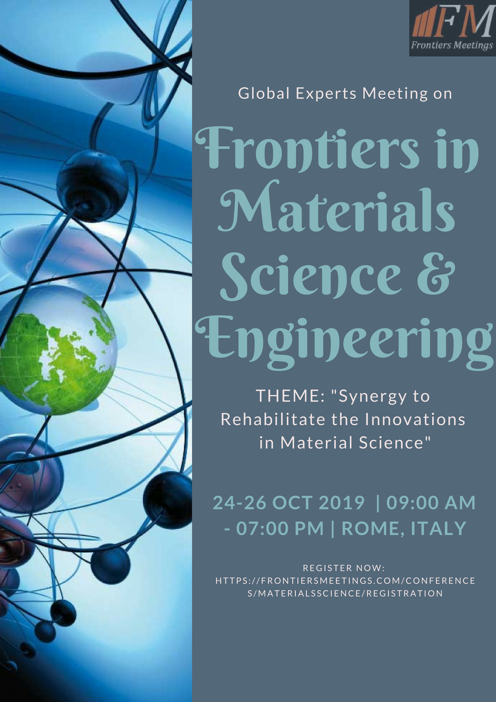 Global Experts Meeting on Frontiers in Materials Science & Engineering, Rome, Italy