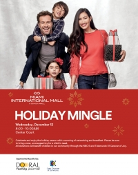 Business Networking / Toy Drive  Holiday Mingle at Miami International Mall
