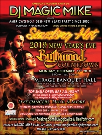 2019 New year's Eve Bollywood Countdown in New Jersey