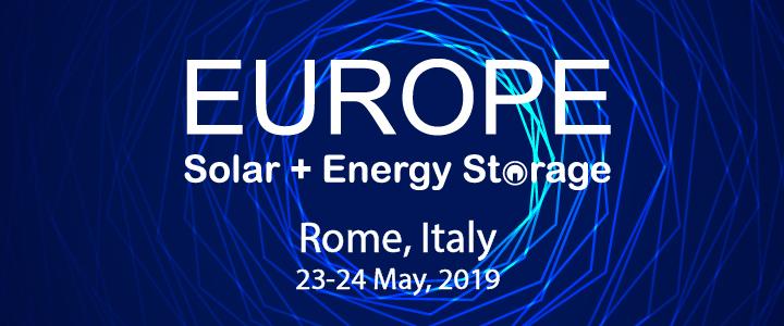Europe Solar + Energy Storage Congress 2019, Rome, Lazio, Italy