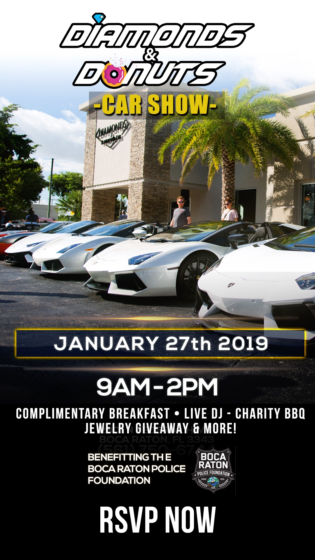 Diamonds & Donuts 2019 Kick Off Car Show!, Palm Beach, Florida, United States