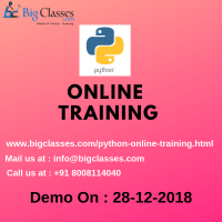 PYTHON ONLINE TRAINING DEMO on 28th Dec 2018