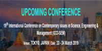 19th International Conference on Contemporary issues in Science, Engineering & Management (ICCI-SEM)