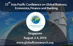 23rd Asia-Pacific Conference on Global Business, Economics, Finance and Banking, Singapore