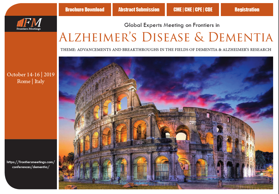 Global Experts Meeting on Frontiers in Alzheimer's Disease & Dementia, Rome, Italy
