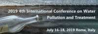 2019 4th International Conference on Water Pollution and Treatment (ICWPT 2019)