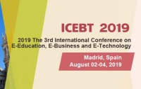 2019 The 3rd International Conference on E-Education, E-Business and E-Technology (ICEBT 2019)